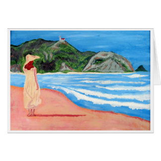 Girl on Beach notecards Card