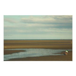 Girl on beach photo art