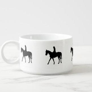 Girl on Horse Chili Bowl