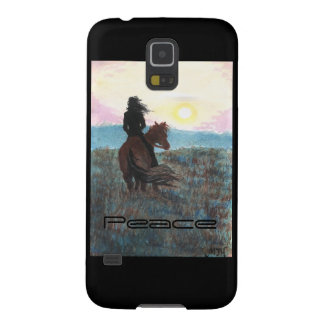 Girl on Horse Peace Sunset Samsung Galaxy S5 Case