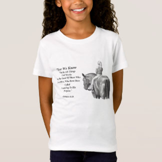 Girl On Horse, Pencil Art: Bible Verse: Romans T-Shirt