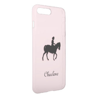 Girl on Horse / Pony Pink Personalized iPhone 8 Plus/7 Plus Case