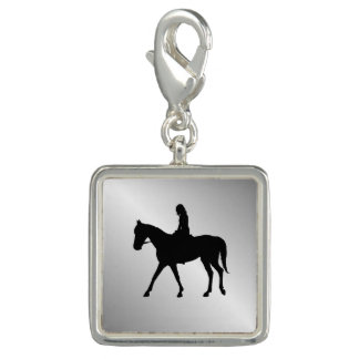 Girl on Horse Silver Charm