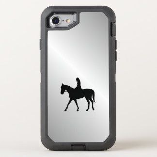 Girl on Horse Silver OtterBox Defender iPhone 7 Case