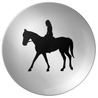 Girl on Horse Silver Plate