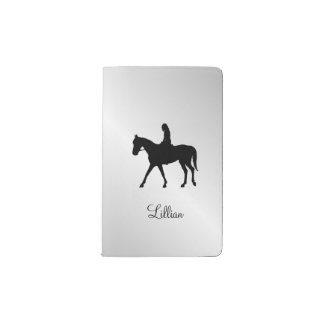 Girl on Horse Silver Pocket Moleskine Notebook