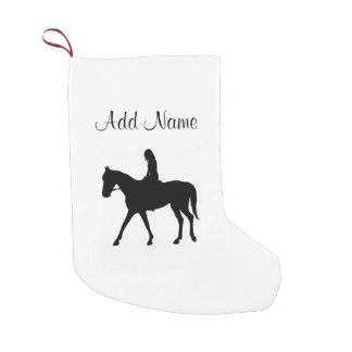 Girl on Horse Small Christmas Stocking
