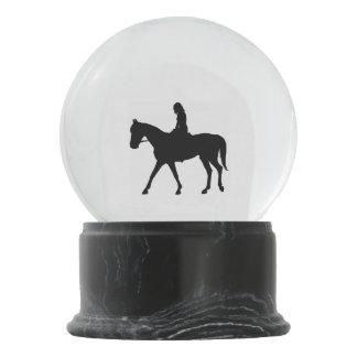 Girl on Horse Snow Globe