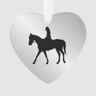 Girl on Horse Welcome Ornament