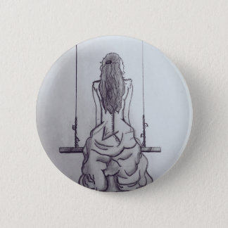 Girl on Swing Button