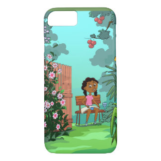 Girl on the Bench design phone cover