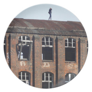 Girl on the Roof 02.2.2, lost places Plate