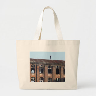 Girl on the Roof 02.2, lost places Large Tote Bag