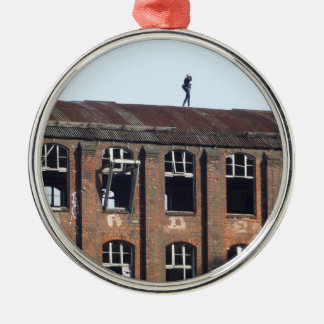 Girl on the Roof 02.2, lost places Metal Ornament