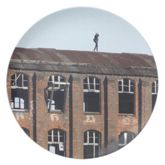 Girl on the Roof 02.2, lost places Plate