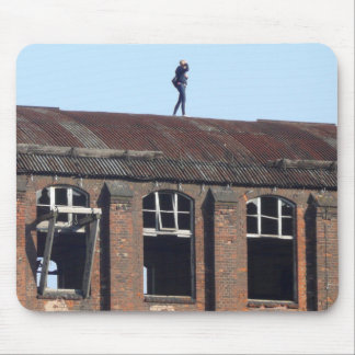 Girl on the Roof - Lost Places 01.2 Mouse Pad