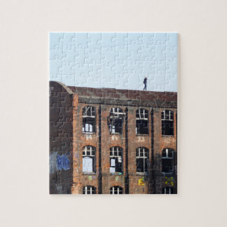 Girl on the Roof - Lost Places Jigsaw Puzzle