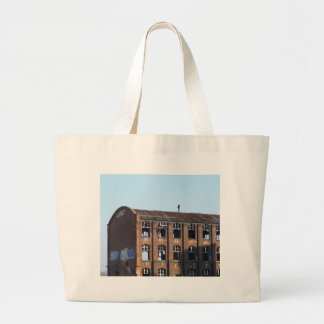Girl on the Roof - Lost Places Large Tote Bag