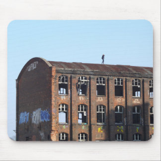 Girl on the Roof - Lost Places Mouse Pad