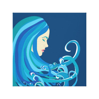 Girl on The Wave Canvas