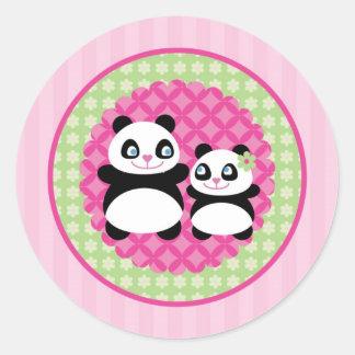 Girl Panda Bear Sticker