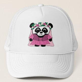 Girl Panda in Pink Renaissance Dress Trucker Hat
