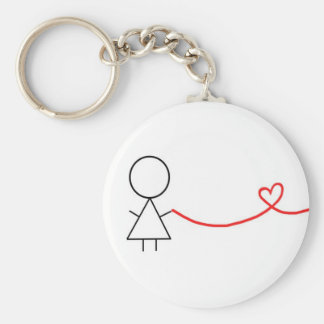 Girl Part of Couples Keychain
