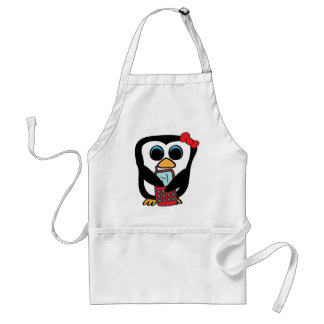 Girl Penguin with Cellphone Standard Apron