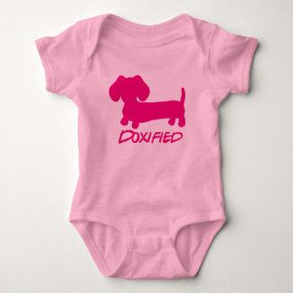 Girl Pink Dachshund Doxified Bodysuit