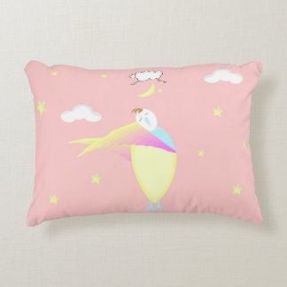 Girl Pink Sleepy Time Bed Pillow Accent Pillow