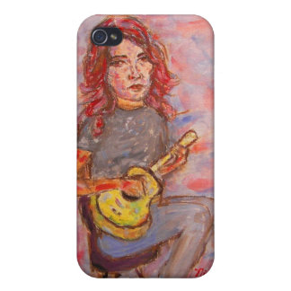 girl playin' ukulele iPhone 4 covers