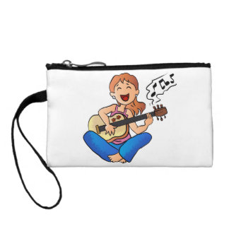 girl playing guitar coin wallet