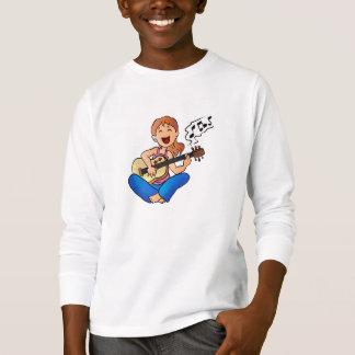 girl playing guitar T-Shirt