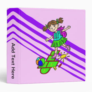 Girl Playing Hopscotch 2 3 Ring Binders