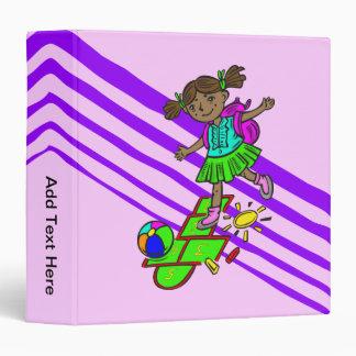 Girl Playing Hopscotch 3 Ring Binders