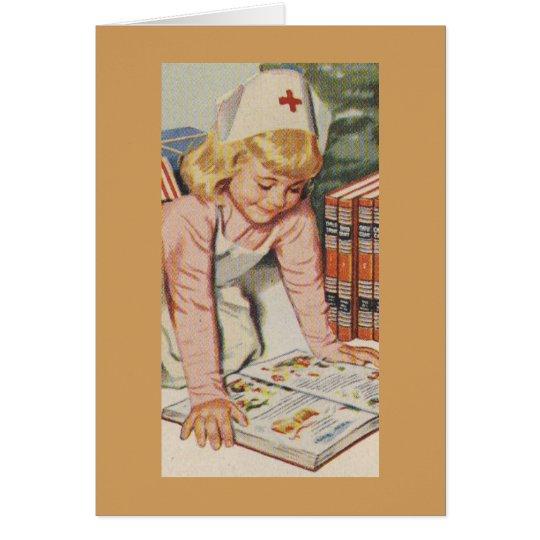 Girl playing Nurse - Retro