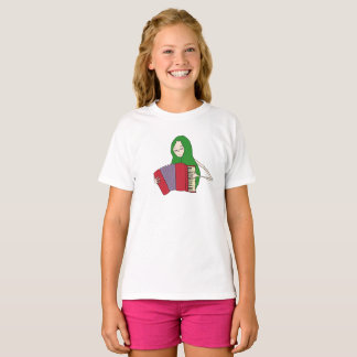 Girl Plays Accordion T-Shirt for Kids