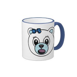 Girl Polar Bear Ringer Mug