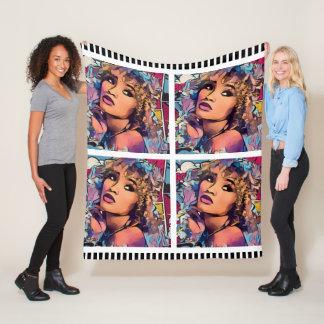 Girl Pop Art Fleece Blanket