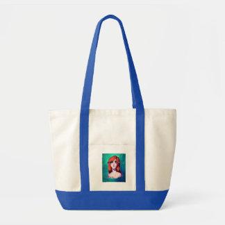 Girl Portrait Tote Bag