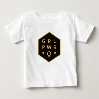 Girl Power | Black Colorful Graphic Design Baby T-Shirt