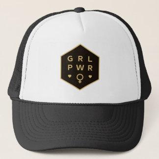 Girl Power | Black Colorful Graphic Design Trucker Hat