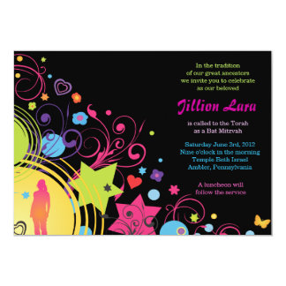 GIRL POWER Bright Bat Mitzvah Invitation