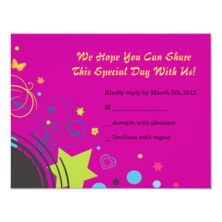 Girl Power Bright Bat Mitzvah Invitation Party
