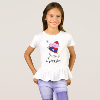 Girl Power Cartoon Astronaut Cat Girls' Tee