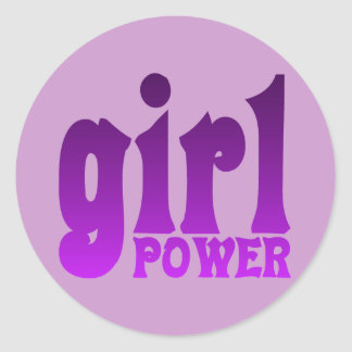 Girl Power Classic Round Sticker