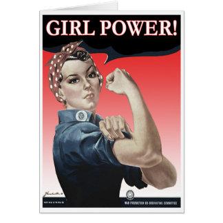 Girl Power Greeting Card