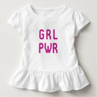 Girl Power GRL PWR t-shirt - Toddler Ruffle Tee