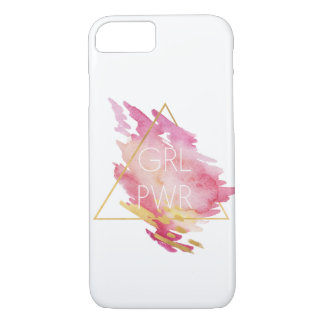 Girl Power in Pink & Gold - Abstract Watercolor Case-Mate iPhone Case