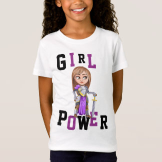 GIRL POWER Knight Warrior Solider ADD NAME ON BACK T-Shirt